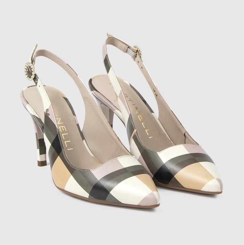 Zapatos de salón de mujer Martinelli de piel con cierre de hebilla