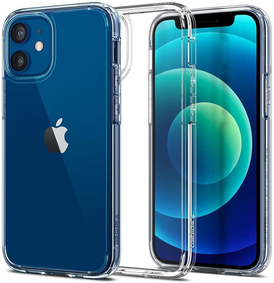 Spigen Funda Ultra Hybrid Compatible con iPhone 12 Mini - Transparente