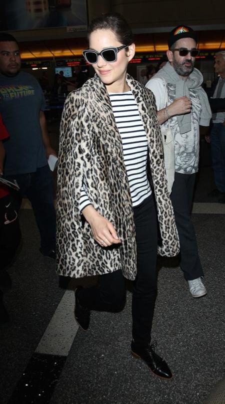 Marion Cotillard Leopardo Rayas Estampado Look
