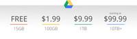 Google rebaja los precios de sus planes en Drive