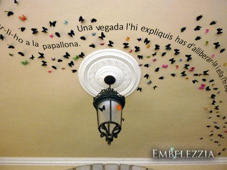 mariposas y flores con mensaje