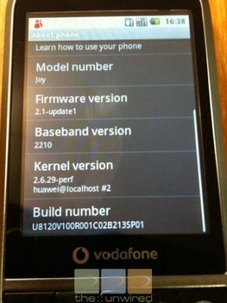 Vodafone 845 con Android 2.1 se deja ver en imágenes