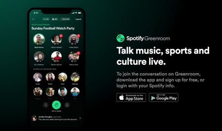 Spotify también se une a la moda Clubhouse con 'Greenroom', una nueva app para iPhone y Android