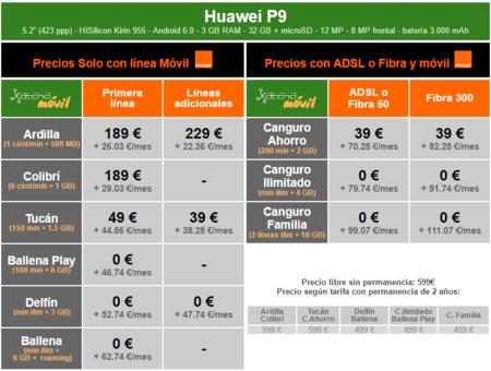 Precios Huawei P9 Con Tarifas Orange