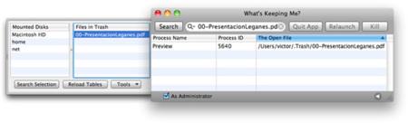 What's Keeping Me? nos descubre en Mac qué aplicación está usando un archivo