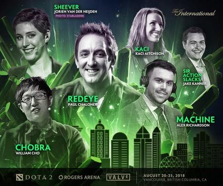 Anunciado el elenco de presentadores, comentaristas, entrevistadores y observadores en varios idiomas para The International 8