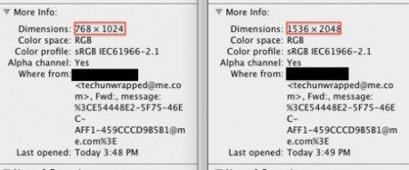 resolución píxeles información ipad retina apple
