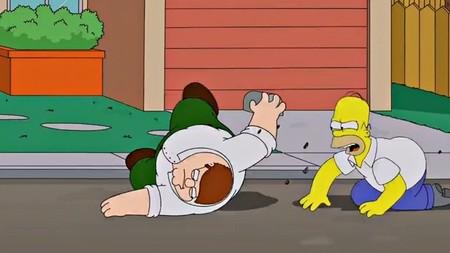 Fotogramas del crossover entre 'Los Simpson' y 'Padre de familia', la imagen de la semana