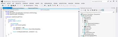 Truco, volver a Crear pruebas unitarias desde Visual Studio 2012