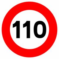 Las multas de tráfico caen el primer mes a 110 km/h