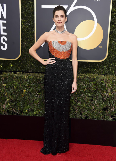 Alfombra Roja Globos De Oro 2018 Allison Williams Armani Prive