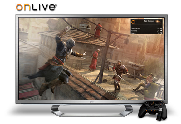 Televisor LG con Onlive