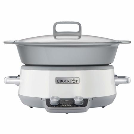 Por 109 euros podemos hacernos con la olla de cocción lenta Crock-Pot Duraceramic CSC027X gracias a Amazon
