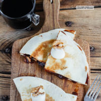 Quesadillas de chocolate y nuez. Receta