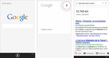 Google actualiza su aplicación de búsqueda para Windows Phone