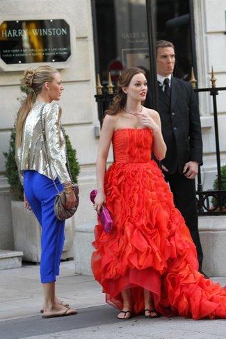 Más looks de Blake Lively y Leighton Meester en el rodaje de Gossip Girl I