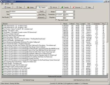 Interfaz Napster