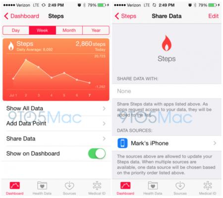iOS 8 beta 3 ya mide nuestros pasos con el coprocesador M7 de los dispositivos iOS
