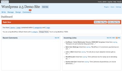 Demo de Wordpress 2.5