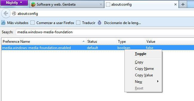 Firefox 20 activar H.264