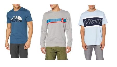 Chollos en tallas sueltas de ropa por menos de 30 euros en Amazon: camisetas The North Face o Levi's, vestidos Desigual o forros Helly Hansen
