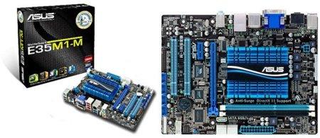 Asus presenta su placa base con AMD Fusion, la Asus E35M1-M pensada para el salón