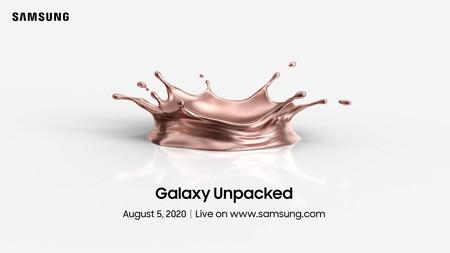 Es oficial, el Galaxy Unpacked 2020 se celebrará el 5 de agosto: Galaxy Note 20, y más, a la vista