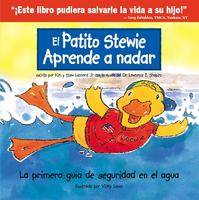 El patito Stewie aprende a nadar