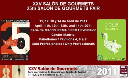XXV Salón de Gourmets Madrid 2011, cita gastronómica en abril