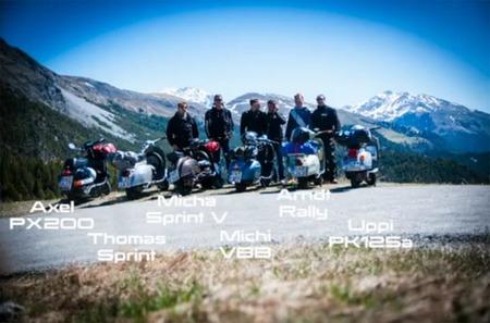 En Vespa por los Alpes, que bellos recuerdos