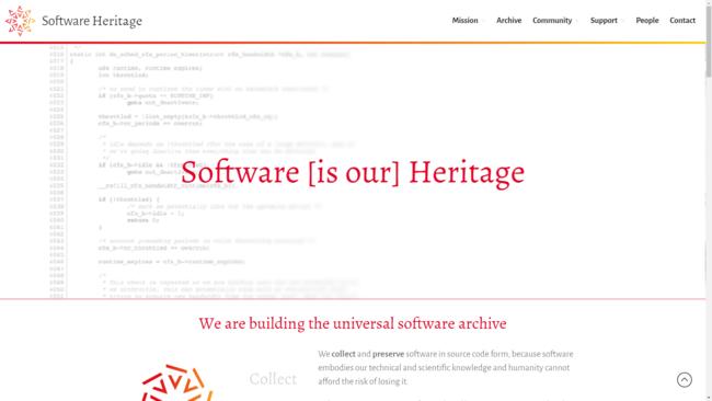 Software Heritage es el mayor archivo de software de código abierto con on 3.000 millones de archivos