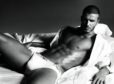 Primera foto de David Beckham para Armani Underwear