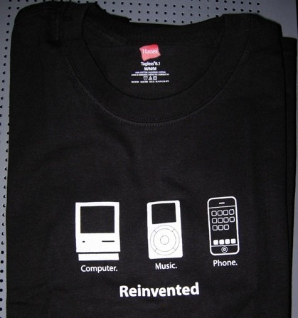 "Reinvented: Una camiseta de Apple ""no oficial"""