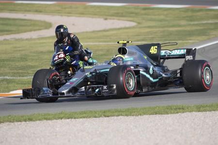 Rossi Formula 1 Mercedes Cheste 2019