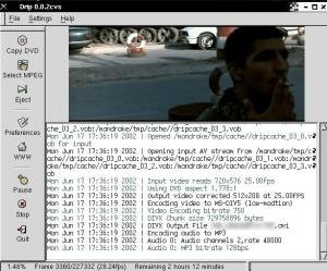 Pasar DVD a divx en Linux