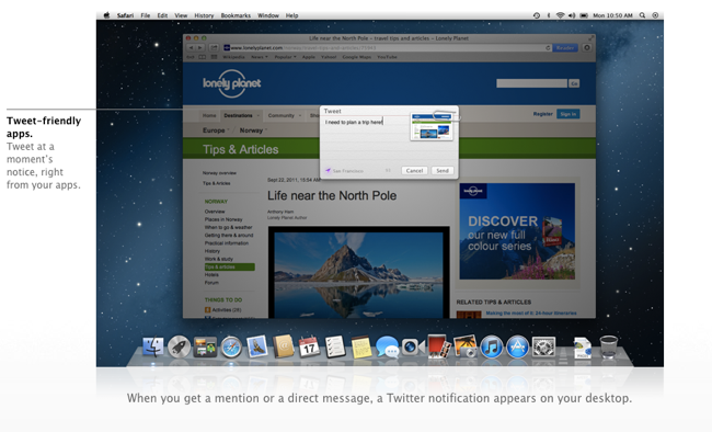 Twitter en Mountain Lion