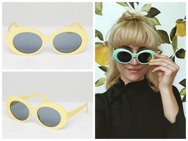 d8634a0e2e Las gafas de sol de estilo retro son un clásico que nunca pasa moda. El  modelo más sixties que luce Pixie son un gafas de sol de pasta ovaladas en  color ...