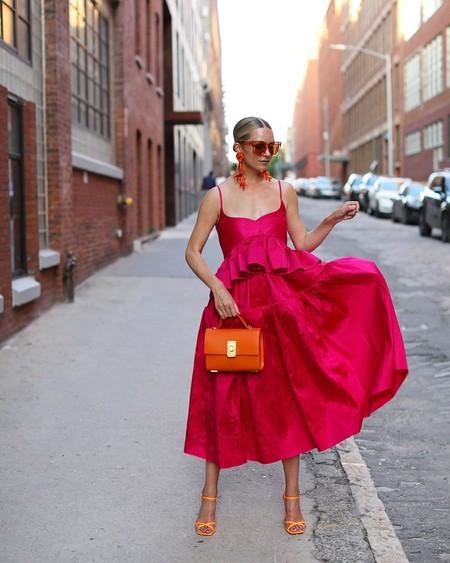 Combinar Vestido Rosa Zapato Bolso 05