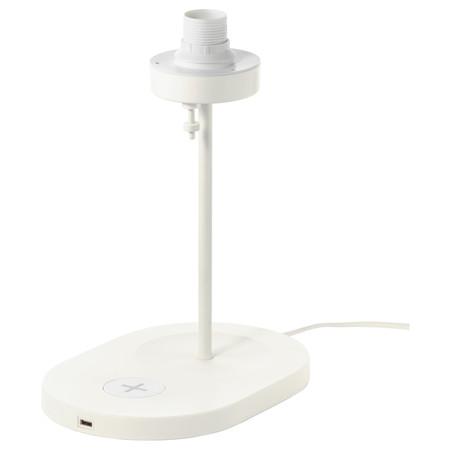 Lámpara IKEa cargador Qi