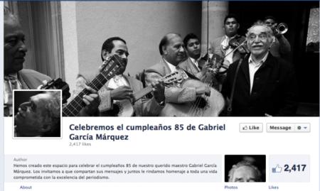 Gabriel García Márquez recibe como regalo de cumpleaños una página de Facebook