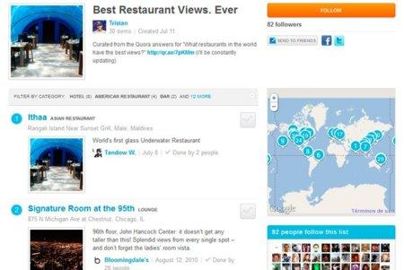 Llegan las listas a Foursquare