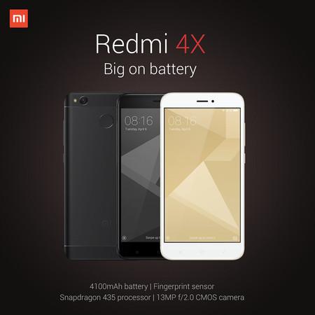 Xiaomi Redmi 4X de 32GB, en versión global con 4G totalmente compatible en España, por 102 euros