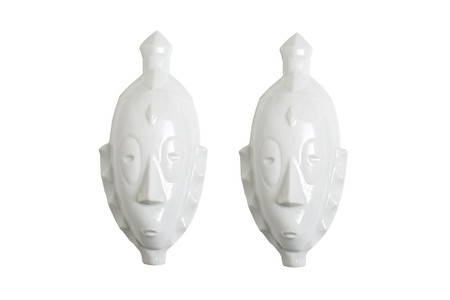 Máscaras africanas de porcelana