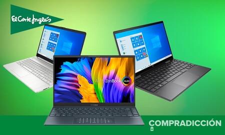 Equípate para el nuevo curso con estos portátiles en oferta en El Corte Inglés: modelos de ASUS, HP y Lenovo con descuentos de hasta un 25%