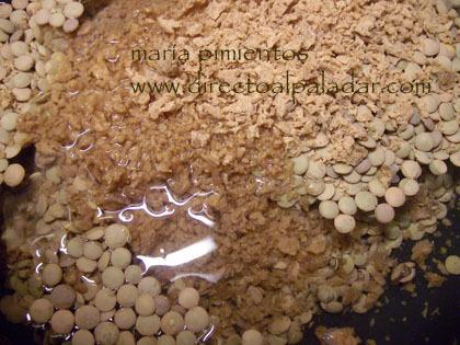 lentejas con soja