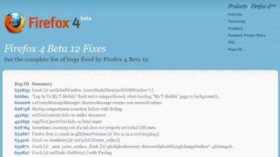 Ya se puede descargar la beta 12 de Firefox 4