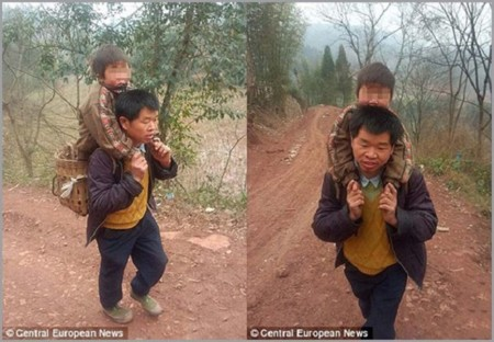 This Is Not Your Ordinary Father Son Piggyback 1