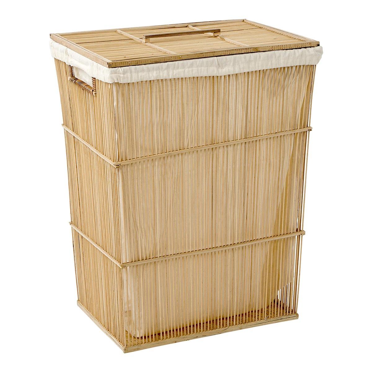Cesto de ropa con tapa Bambú El Corte Inglés