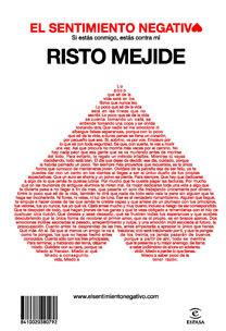'El sentimiento negativo' de Risto Mejide