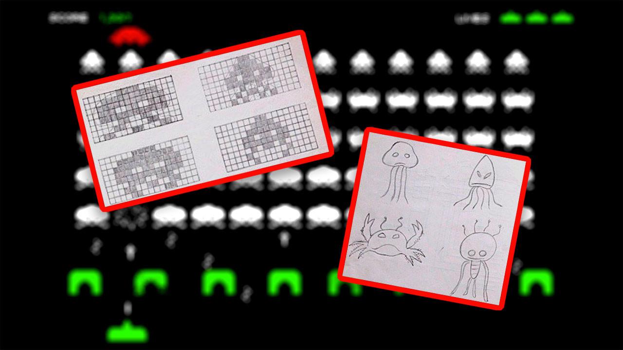 Papel Gráfico Lápiz Y El Mar Lo Que Los Bocetos Originales De Space Invaders Cuentan Del Juego